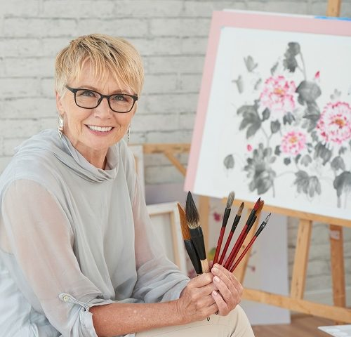 un artiste peintre à Annecy